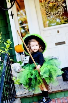 Neon Green Witch Infant thru Adult. $55.00, via Etsy. So cute.