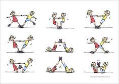 Bilderesultater for gymnastics partner balance activities Pe Activities, Gross Motor Activities, Movement Activities, Gross Motor Skills, Physical Activities, Yoga For Kids, Exercise For Kids, Crossfit Kids