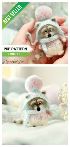 Amigurumi Raccoon Knitting Pattern