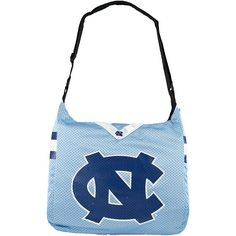 Littlearth Team Jersey Shoulder Bag - ACC Teams ($29) ❤ liked on Polyvore featuring bags, handbags, shoulder bags, blue, fabric handbags, white shoulder handbags, white shoulder bag, man shoulder bag, blue shoulder bag and blue purse