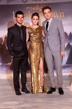 Breaking Dawn Part 2 Berlin Premiere. Taylor Lautner. Kristen Stewart. Robert Pattinson.