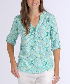 Loving this Swimming Pool Ikat Dockside Henley on #zulily! #zulilyfinds