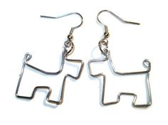 Scottie Dog Wire Paperclip Earrings by DarkDingo on Etsy, $19.99