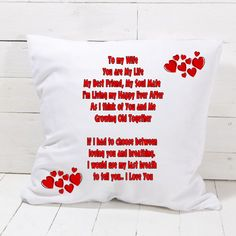 TO MY WIFE Pillowcase Bedroom Home Decor Great Gift Present #Unbranded You Are My Life, My Wife, Cushion Covers, Pillow Cases, I Am Awesome, Great Gifts, Presents, Love You, Throw Pillows