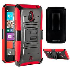 Caseformers Duo Armor Red For Nokia Lumia 1320 Combo Case With Stand And Holster http://www.smartphonebug.com/accessories/17-top-nokia-lumia-1320-cases-and-covers/