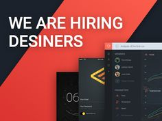 We're Hiring Designers by Ron Evgeniy for Ron Design Web Design, We Are Hiring, User Experience, Design Reference, User Interface, Graphic, Web Development, Style Guides, Coding