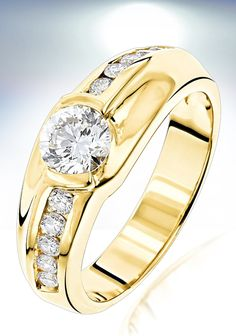 Cool  Carat Solitaire Mens Diamond Ring ctw K White Rose or Yellow Gold