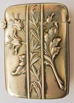 Beautiful Antique French Sterling Silver Art Nouveau Match Safe - from artnouveau on Ruby Lane
