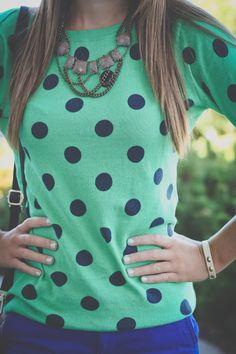 Polka dots    #fashion #styles