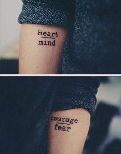 Quote tattoo-would like mind over mattter
