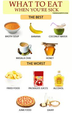 BEST AND WORST FOODS TO EAT WHEN YOU ARE SICK You must have been through some uneasy days in life only to be restricted from eating your favourite foods! My mother usually restricts me from some foods and makes me eat something else when I am lo Sick Food, Bad Food, Food For Sick People, Natural Health Remedies, Herbal Remedies, Cough Remedies, Home Remedies, Eat When Sick, Best Food When Sick