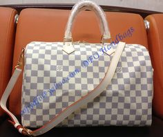 Louis Vuitton Damier Azur Speedy Bandouliere 35 sale at - Free Worldwide shipping. Get today Louis Vuitton Damier Azur Speedy Bandouliere 35 Lv Handbags, Luxury Handbags, Louis Vuitton Handbags, Designer Handbags, Louis Vuitton Damier, Vuitton Bag, Cowhide Leather, Gucci