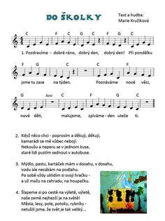 Fall Preschool, Preschool Themes, Music Do, G 1, Kids Songs, First Day Of School, Toddler Activities, Sheet Music, Kindergarten