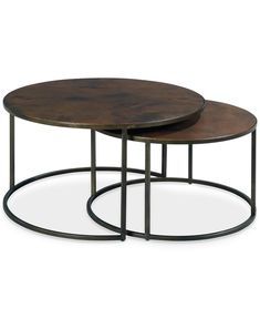 copper round 2piece nesting coffee table set - Macys Coffee Table
