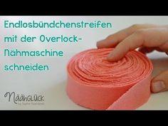 Endlosbündchenstreifen mit der Overlockmaschine schneiden - YouTube