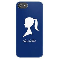 Add an eye-catching pop of style to your on-the-go adventures with this chic essential.  Product: Monogrammed iPhone 4/4s caseConstruction Material: PlasticColor: Navy Features: Custom name monogramNote: Please type your name as you would like it to appearCleaning and Care: Wipe clean