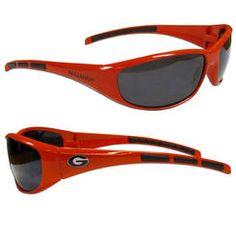 Siskiyou Sports Team Logo Wrap Sunglasses--Georgia Bulldogs
