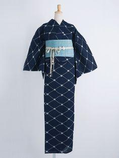 Love the color and pattern combo Yukata Kimono, Kimono Japan, Japanese Kimono, Japanese Outfits, Japanese Fashion, Traditional Fashion, Traditional Outfits, Modern Kimono, Geisha Art