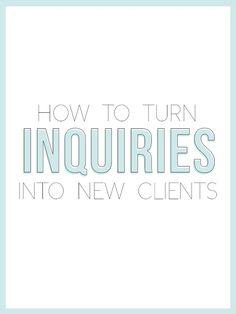 How To Turn Inquiries Into New Clients (PLUS A FREEBIE) — The Alisha Nicole