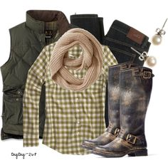 """""""Green Checks"""" by taytay-268 on Polyvore"""
