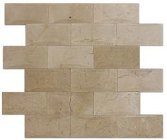 2x4+Crema+Marfil+Marble+Brick+Pillow+Pattern+Polished+Mosaic+Tile+-+2x4+Crema+Marfil+Marble+Brick+Pillow+Pattern+Polished+Mosaic+Tile+is+a+great+way+to+enhance+your+decor.+This+Polished+Mosaic+Tile+is+constructed+from+durable,+impervious,+translucent,+Marblematerial,+comes+in+a+smooth,+high-sheen+finish+and+is+suitable+for+installation+as+bathroom+backsplash,+kitchen+backsplash+in+commercial+and+residential+spaces.+This+beautiful+Marbletile+features+a+random+variation+in+tone+to+help