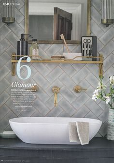 6 Tipps, um Ihre Badezimmer Renovierung Look Amazing 6 Tips to Make Your Bathroom Renovation Look Amazing brush Bathroom Renos, Bathroom Interior, Bathroom Ideas, Tiled Bathrooms, Master Bathroom, Serene Bathroom, Bathroom Designs, Green Bathroom Tiles, Washroom
