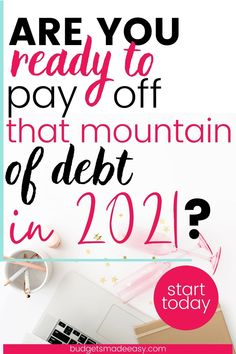 Payoff Debt in 2021: You can enjoy being debt free thanks to small steps over and over again. The best way to reach your financial goals is with these small actions repeated. Enjoy freedom from loans and money stress when you find a budget that works well for you and your family! Learn how you can become debt free in 2021. Ways To Save Money, Money Tips, Money Saving Tips, Money Budget, Saving Ideas, Financial Peace, Financial Goals, Debt Payoff, Debt Repayment
