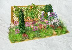 Die würzige Note von Rosmarin oder Salbei verströmt südliches Flair im Mediterranen Garten. Ein idealer Ort für ein Sonnenbad unweit der Säulenzypresse.