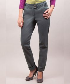 Take a look at this Riverside: Grey Cuff Audrey Trouser Pants by Riverside on #zulily today!
