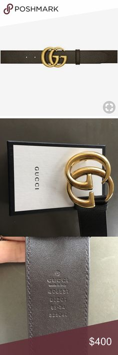13b05b1f72d Dark brown Gucci Marmont belt Dark brown thick textured Gucci marmont belt.  Size 85cm or