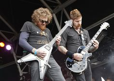 Brett and Bill from Mastodon, the band currently wearing the metal crown.