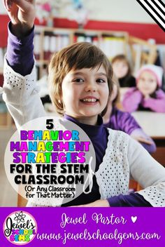 5 BEHAVIOR MANAGEMENT STRATEGIES FOR THE STEM CLASSROOM (OR ANY CLASSROOM FOR THAT MATTER) | Struggling with behavior management? Here are five strategies and two FREEBIES to help you enjoy teaching more and worry about behavior less.