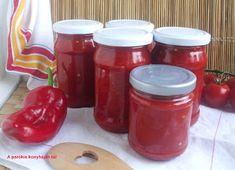 Darált paprika télire paradicsommal Salsa, Food, Red Peppers, Eten, Meals, Salsa Music, Diet
