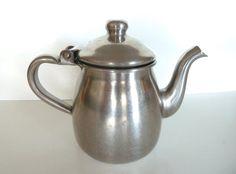 Vintage Individual Polar Stainless Steel Teapot