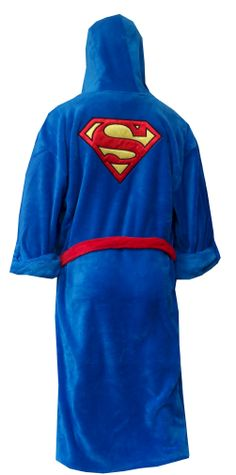 Superman Logo Super Soft Plush Robe This looks like a robe for Superman! These ultra soft 100% polyester plush hooded robes for...
