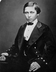 Prince Alfred, future Duke of Edinburgh and Duke of Saxe-Coburg and Gotha (second son of Queen Victoria).
