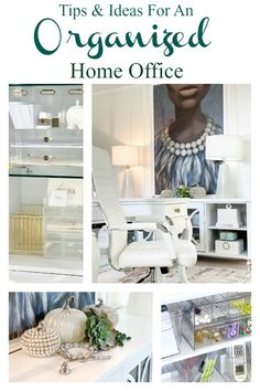 Organize your office supplies with non-traditonal storage @iDESIGNLiveSimply @iDLiveSimply #ad Home Office Organization, Organize, Household, Office Supplies, Decorating, Storage, Decor, Purse Storage, Decoration