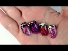 Műköröm díszítés / Nail art Waterway rose