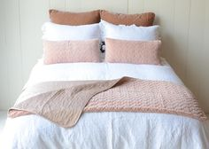 Bella Notte Velvet Quilted Throw Blanket PERFECT PEACH