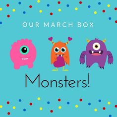 Our MARCH BOX is here!  MONSTERS is silly fun and your monkeys will love it!  (link in bio) #earlylearning #creativekids #preschooler #preschoolerlife #toddler #toddlerlife #toddleractivity #kidscrafts #kidsactivities #montessori #parenting #sahm #wahm #e