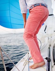Sexy: man in pink pants sailing.  Yes.