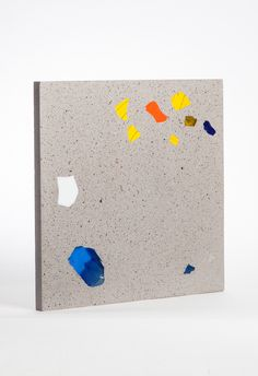 Basis Rho sample tile, multicolored glass embedded in a fine cement matrix Architectural Materials, Church Windows, Wall Cladding, Recycled Glass, Colored Glass, Cement, How To Introduce Yourself, Floors, Tiles