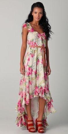 Floral dress to wear with denim jacket