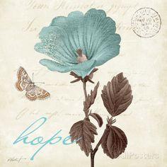 Touch of Blue III, Hope Kunstdruck