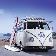 #VW #Bus #Surfboard