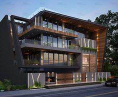 Village House Design, Bungalow House Design, House Front Design, Modern House Design, Architecture Building Design, Facade Design, Exterior Design, Modern Architecture, Interior Designers In Delhi