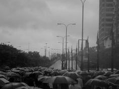 Black n white. Highway. Calcutta.