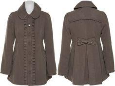 LOVE this!  15DOLLARSTORE.COM - JOLT Vintage Inspired Pleat Trim Coat W/ Pockets