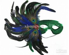 Wholesale peacock feather masks 2011 halloween costume masquerade party accessory