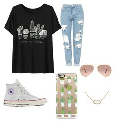 """""""Spring"""" by egloomis on Polyvore featuring Topshop, Converse, Casetify, Kendra Scott and Ray-Ban"""